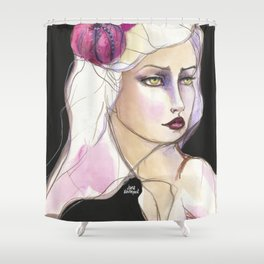 Green Eyed by Jane Davenport Shower Curtain