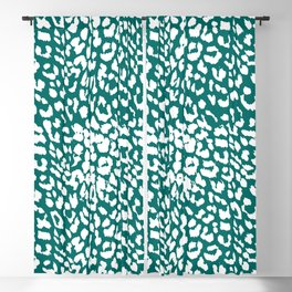 Leopard Quetzal Green Blackout Curtain