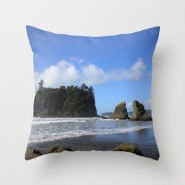 Sea Stacks Throw Pillow
