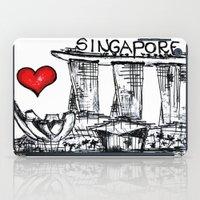 singapore iPad Cases featuring I love Singapore by sladja
