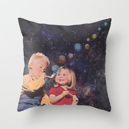 In the beginning ... Throw Pillow