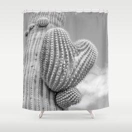 """""""Heart Saguaro"""" by Murray Bolesta Shower Curtain"""