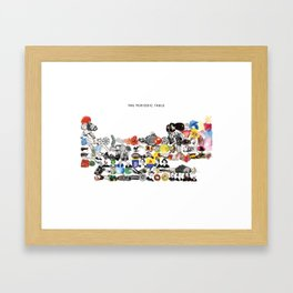 The Periodic Table Framed Art Print