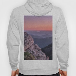 Misty Mountains At Sunset. Sierra Nevada Hoody