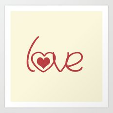 Red Love  Art Print