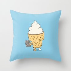 Everyone Poops (Blue) Throw Pillow