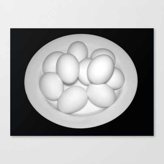 Eggs Still Life Canvas Print