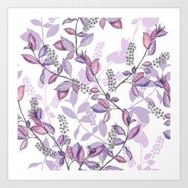 Bird Cherry blossoms Art Print