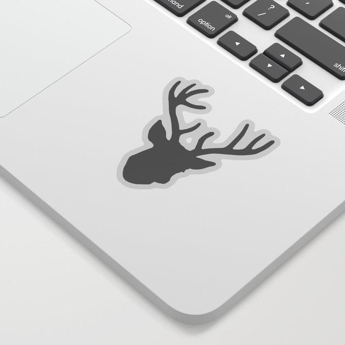 Deer Head: Grey Sticker