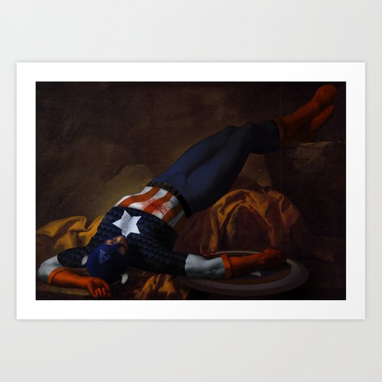 Death of Captain America Art Print