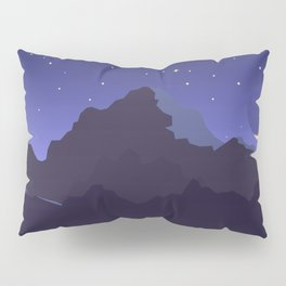 Mountains night scape Pillow Sham