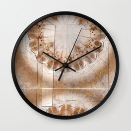 Chowders Weave Flowers  ID:16165-160051-47851 Wall Clock