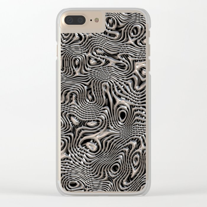 Chrome Chaos Clear iPhone Case
