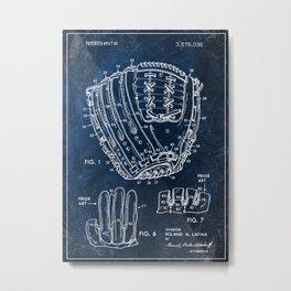 1971 baseball glove patent Metal Print