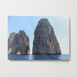 Lovers' Rock - Capri - Faraglioni Metal Print