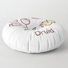 Cute Dungeons and Dragons Druid class Floor Pillow
