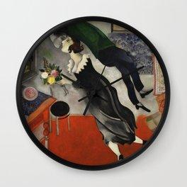 Marc Chagall, The Birthday 1915 Artwork, Posters Tshirts Prints Bags Men Women Kids Wall Clock