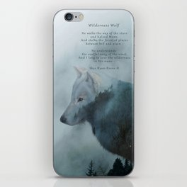 Wilderness Wolf & Poem iPhone Skin