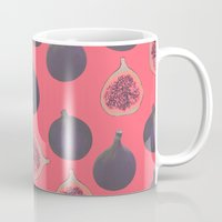 karen Mugs featuring Fig pattern by Georgiana Paraschiv