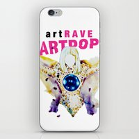 artrave iPhone & iPod Skins featuring ARTPOP artRAVE by KS Art