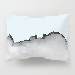 Light Blue Gray and Black Graphic Cloud Effect Pillow Sham