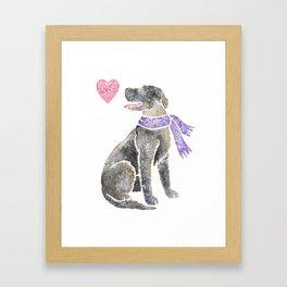 Watercolour Irish Wolfhound Framed Art Print