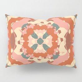 Teal and Terracotta Folk Art mandala Pillow Sham