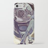 diver iPhone & iPod Cases featuring Diver by Five Ate Five Studios