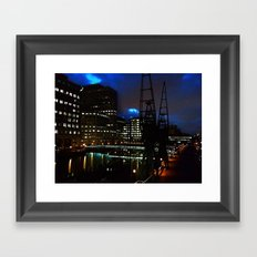 Canary Wharf at night Framed Art Print