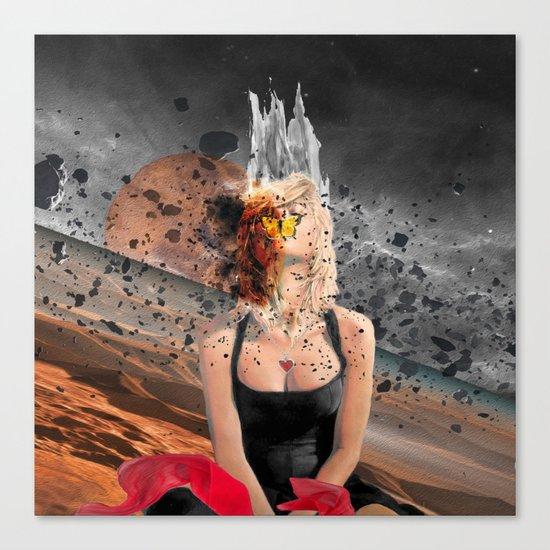 Meteor Girl Canvas Print