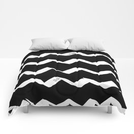 Ink Chevron(invert) Comforters