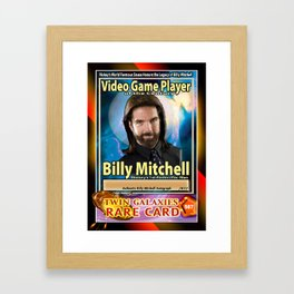 Billy Mitchell card (rare) Framed Art Print