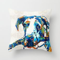 Great Dane Art - Stick With Me - By Sharon Cummings Throw Pillow