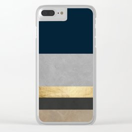 Geometric collage XXIV Clear iPhone Case