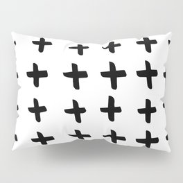 Black and white cross pattern. Modern. Scandinavian. Pillow Sham