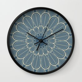 Flower Mandala III Wall Clock