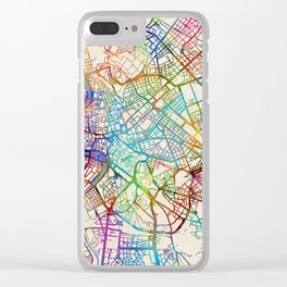 Rome Italy Street Map Clear iPhone Case