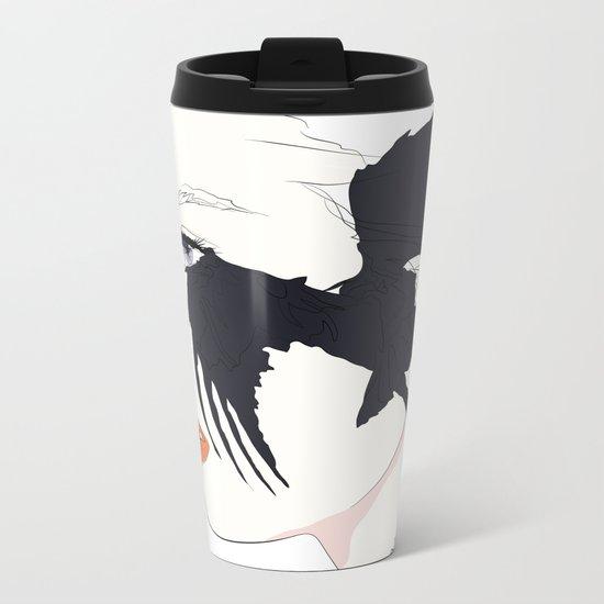 naked_black bird Metal Travel Mug