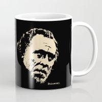 bukowski Mugs featuring Bukowski#! by f_e_l_i_x_x