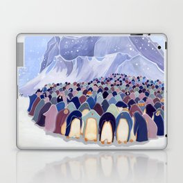 Huddling Penguins Laptop & iPad Skin