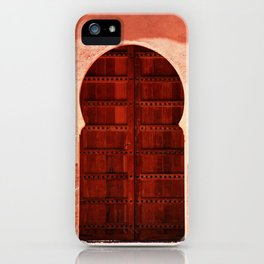 Masala Chai - Red Door in India - Millenial Pink Magenta Maroon - Antique Eclectic Travel Architecture iPhone Case