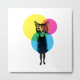 Cat Stuck In A Human Body Metal Print