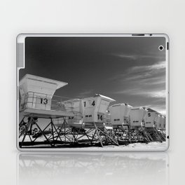 BEACH - California Beach Towers - Monochrome Laptop & iPad Skin