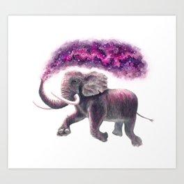 Cosmic Elephant Art Print