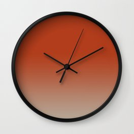 Faded Red Wall Clock