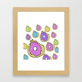 Royal Doughnut Framed Art Print