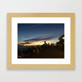 New York City Sunset Framed Art Print