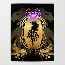 Awesome  black lion Poster