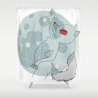 werewolf Shower Curtains featuring Werewolf by tarolime