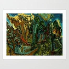 Separation by rafi talby Art Print